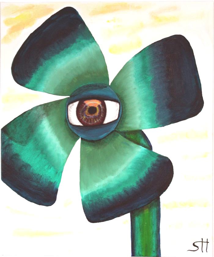 Gemälde Augenklee